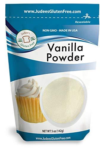 Judee's Premium Vanilla Flavor Powder (5 Oz) Non-GMO - Made in the USA - Add Vanilla Flavor to your recipes, coffee, yogurt, smoothies, protein shakes