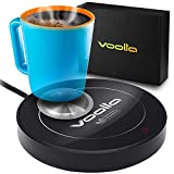Coffee Cup Warmer with Aluminum Pad for Concave Mugs – Coffee Cup Warmer for Desk with Auto Shut On and Off - Also Works as Candle Warmer Plate (Black)