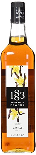 1883 Maison Routin - Vanilla Syrup - Made in France - Glass Bottle | 1 Liter (33.8 ounces)