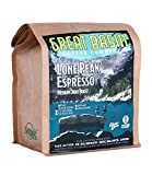 Great Basin Coffee Co. Fresh Whole Bean Medium Dark Roast Coffee. Gourmet Small Batch Lone Peak Espresso, Specialty Arabica and Robusta Blend. Perfect for Making Espresso and Moka Pot - 3/4 lb (340 g)