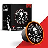 DEATH WISH Death Cups [50 Count] Single Serve Coffee Pods, World's Strongest Coffee, Dark Roast, Keurig Capsules, K Cups, Capsule Cup, USDA Certified Organic, Fair Trade, Arabica and Robusta Beans