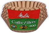 Melitta 200 ct 8-12 cup coffee maker Natural brown Unbleached basket filters by Melitta