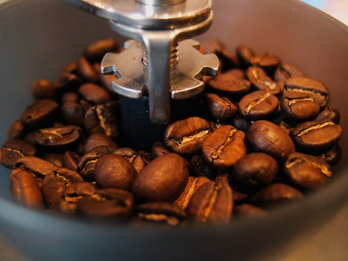 Maintain coffee grinder