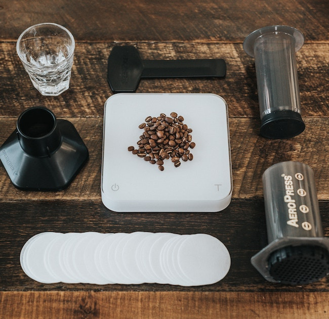 does the aeropress make real espresso - aeropress parts and coffee beans