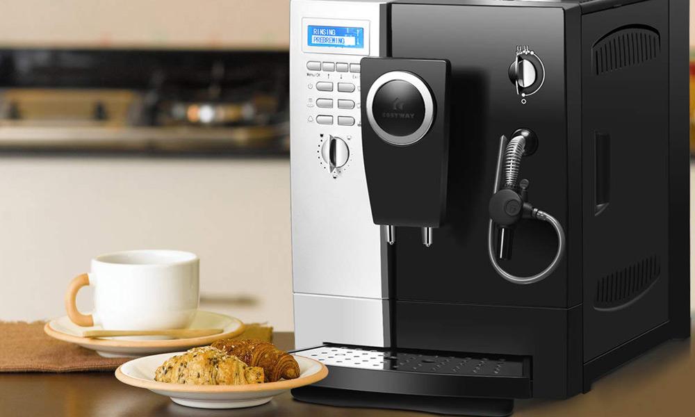 COSTWAY Automatic Espresso Machine With Grinder