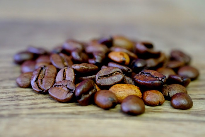 A close up of coffee beans.