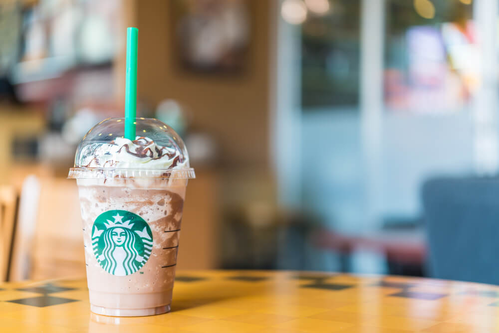 A cup of Frappuccino from Starbucks
