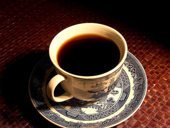 how to fix weak coffee - black coffee on a table top