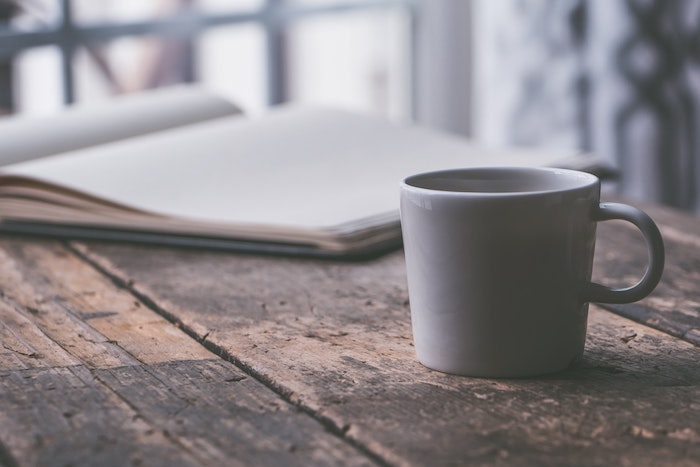 a white ceramic mug