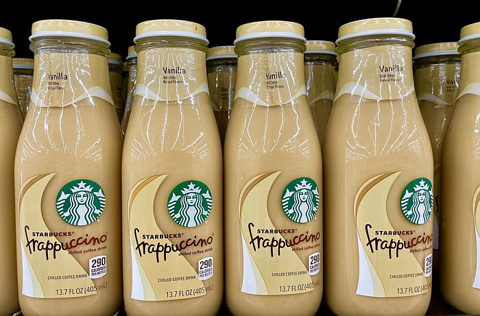 How Long Do Frappuccinos Last - displayed bottled of Starbucks frappuccino