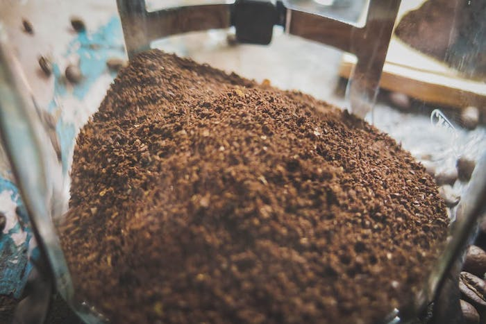 old coffee grounds