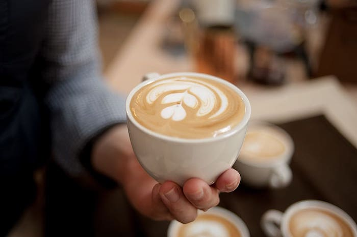 A cup of Latte coffee.