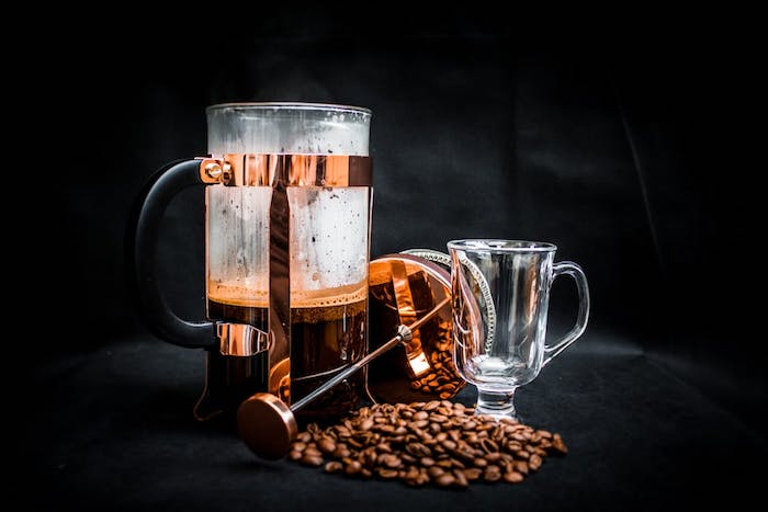 Fresh coffee and coffee beans - Can You Use Espresso Beans In A French Press