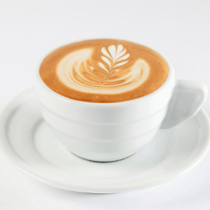 A flat white, a popular coffee drink