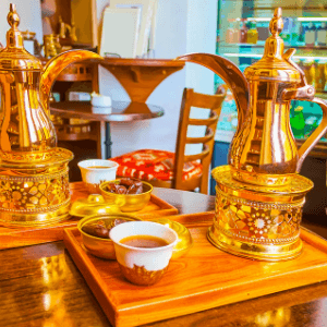 Middle Eastern Coffee pot and coffee cup.
