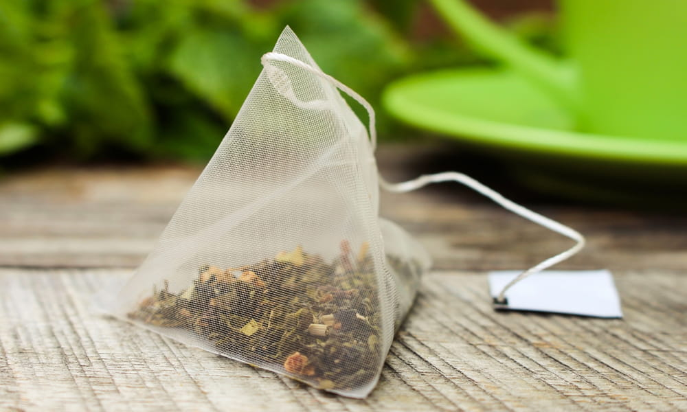 Coffee filter by tea bag