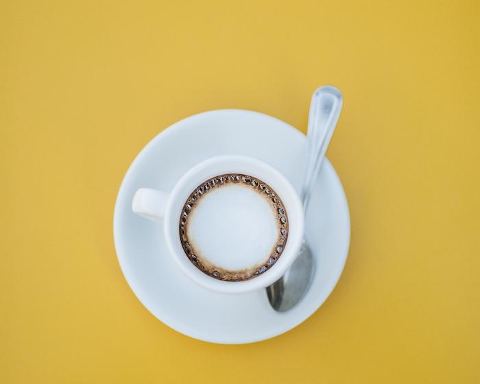 Espresso coffee in a cup.