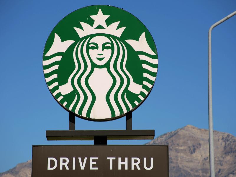 Coffee chain logo.