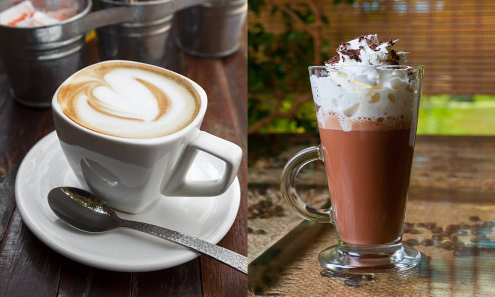 What's the difference between a latte and a mocha