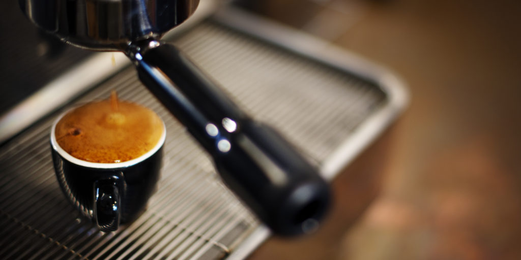 Espresso coffee maker.