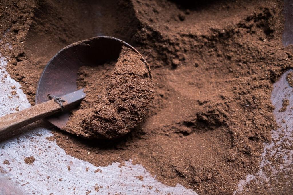 Coffee powder.