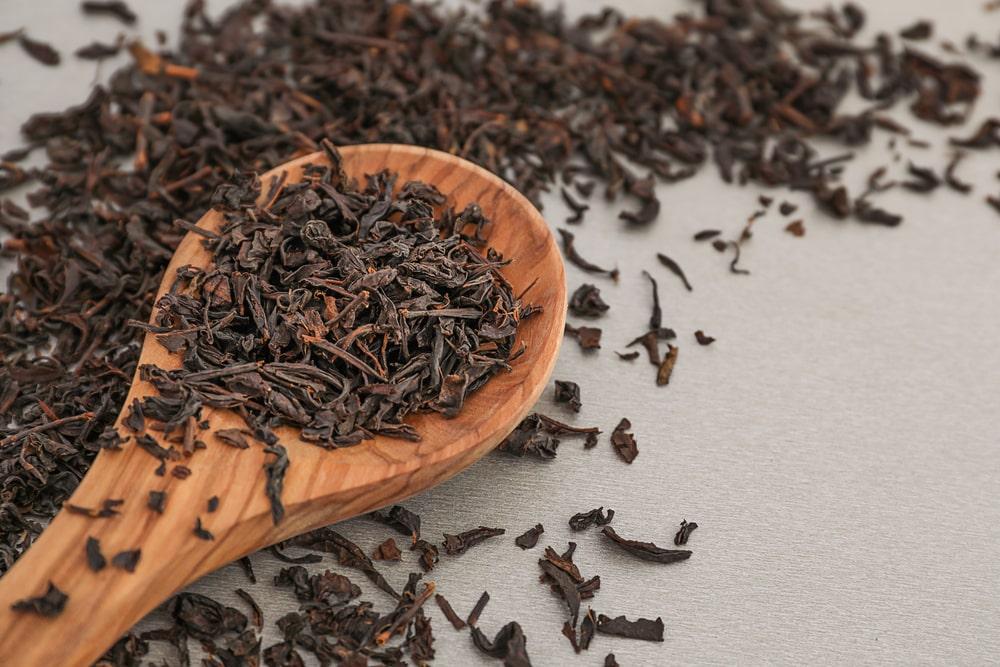 Darjeeling tea leaves.