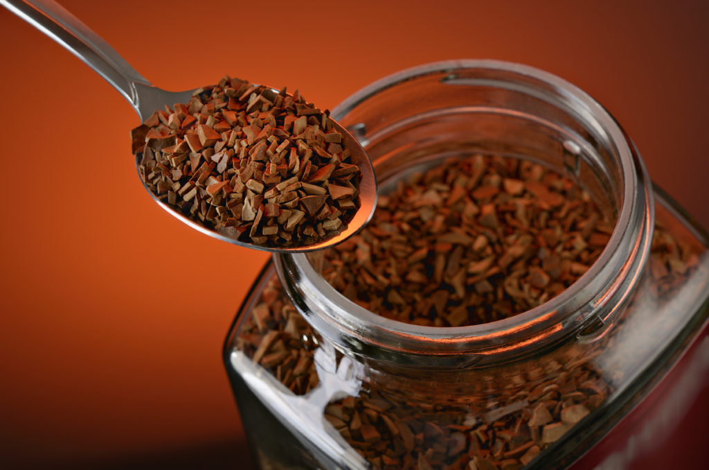 make instant coffee taste good - a tablespoon of Instant Coffee