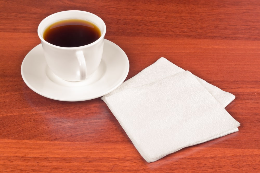 Paper napkins are an effective coffee filter substitute