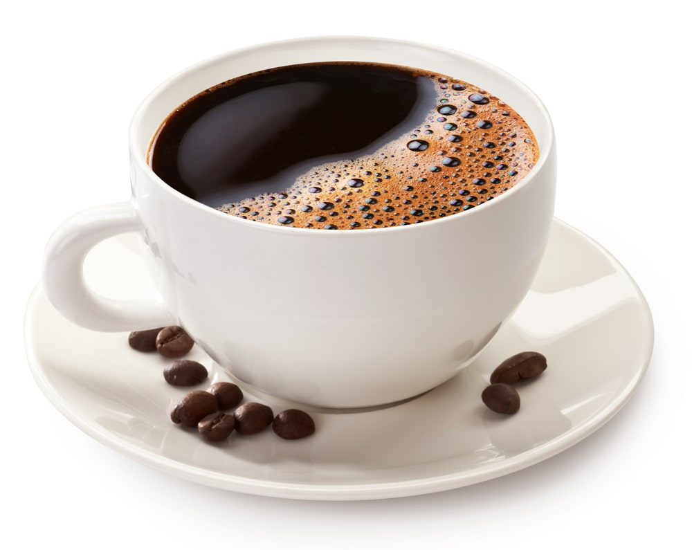 A cup of coffee, with Espresso and Latte