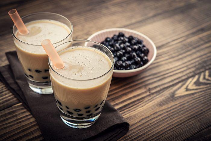 Does Bubble Tea Have Caffeine - a cup of bubble tea with tapioca balls