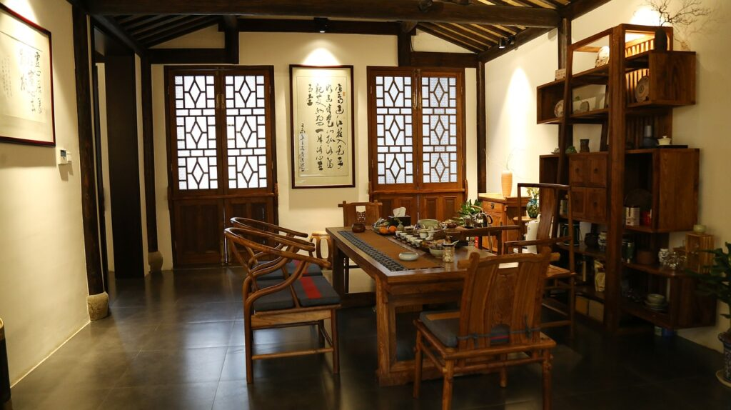 chinese style, the tea room, antique