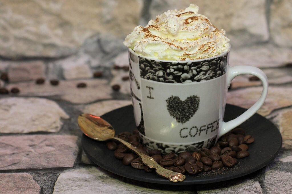 coffee, cream, iced coffee