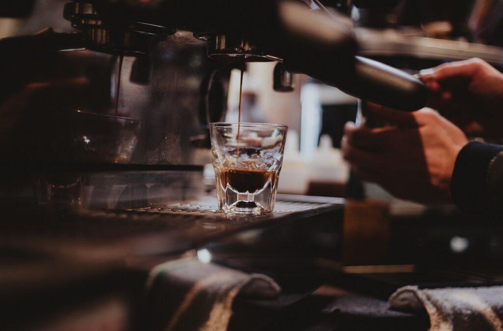 making an espresso coffee