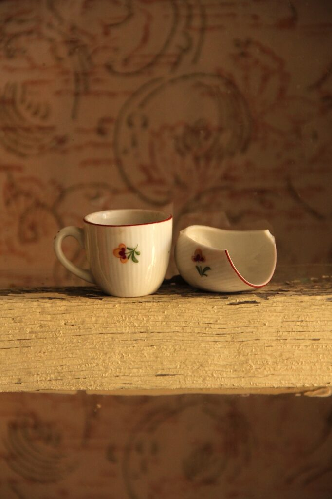 cup, child, duck