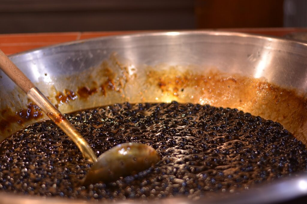 cooking boba pearls for milk tea