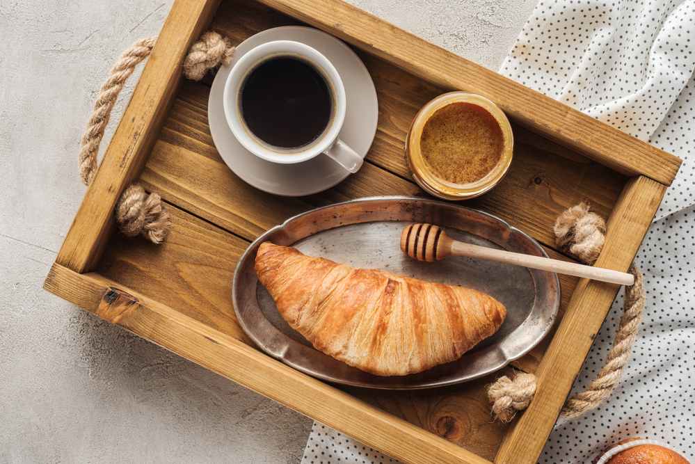 coffee, honey, breakfast