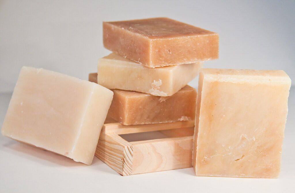 stack of bar soaps