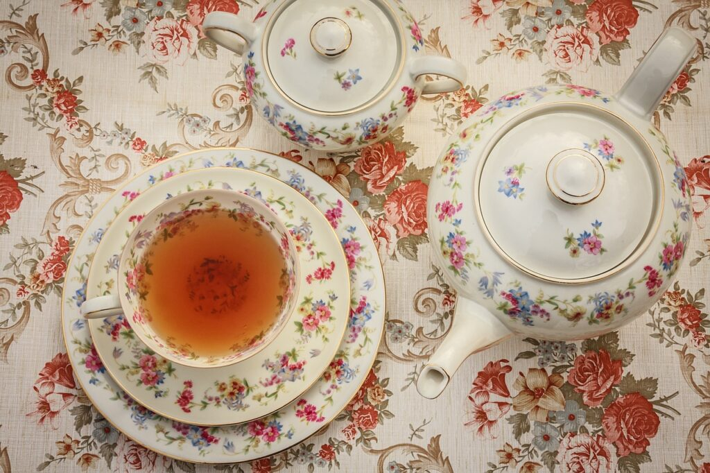 tea, tea time, from above