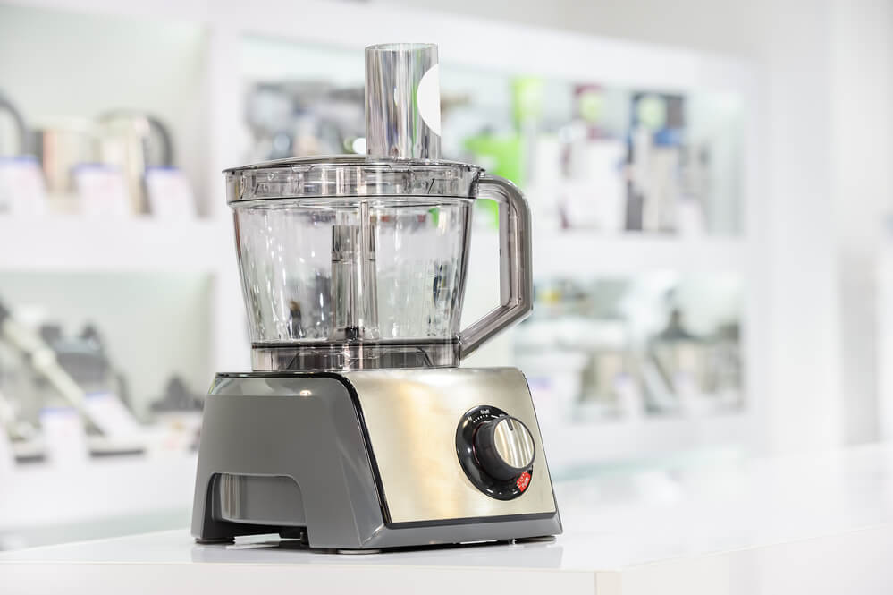 food processor appliance displayed in a retail store