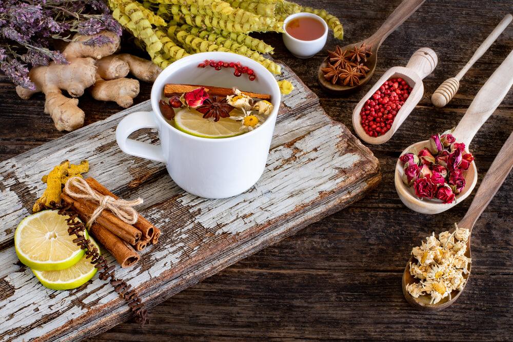 what tea helps you sleep - large variety of dried tea leaves