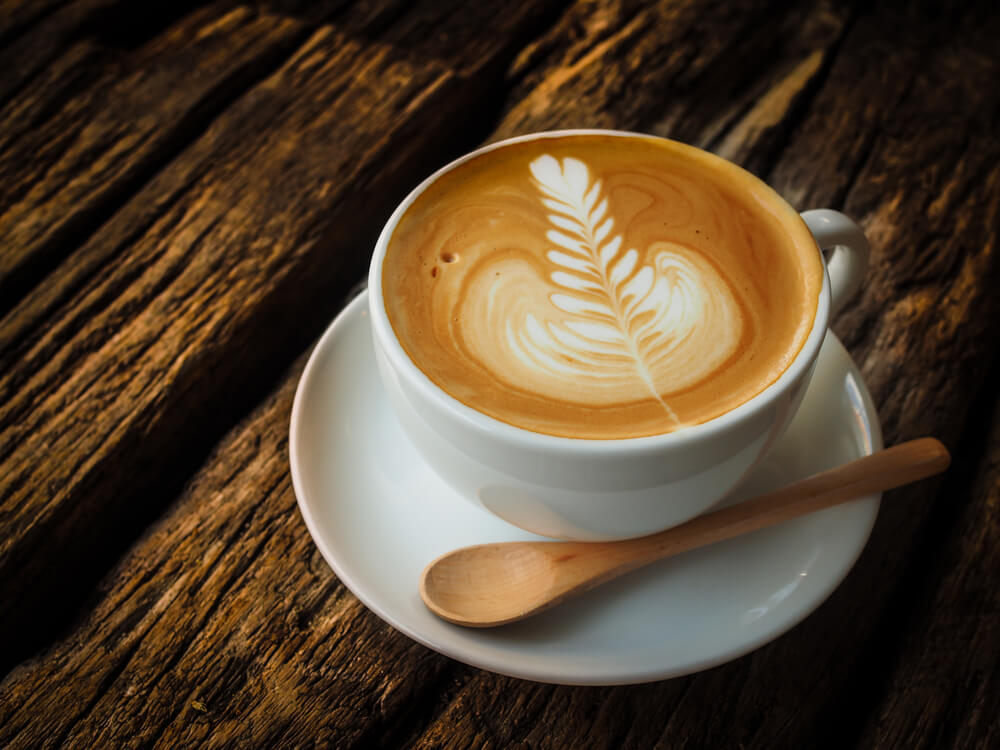 a cup of breve latte
