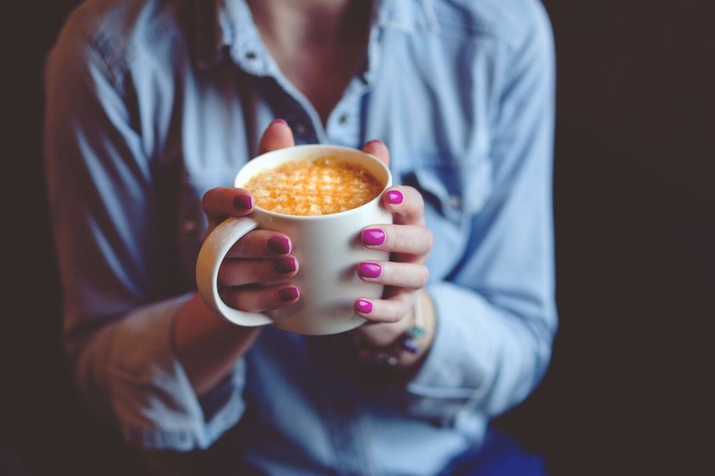 hands, coffee, hold