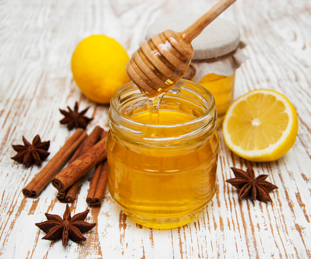 Fresh honey with spices and lemon