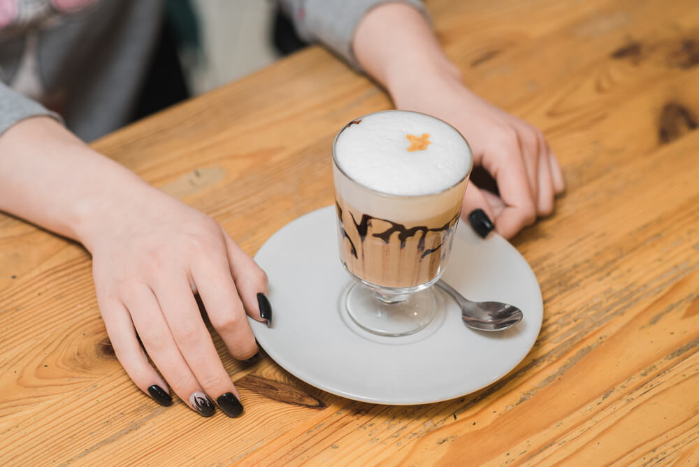 a delicious coffee punch served on a table - coffee punch recipe