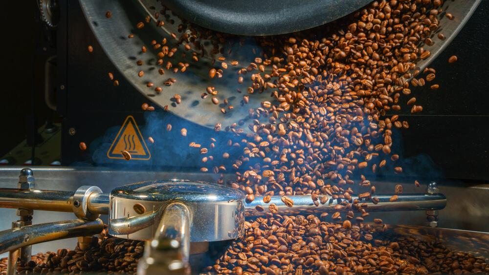 coffee machine sorting and roasting coffee beans