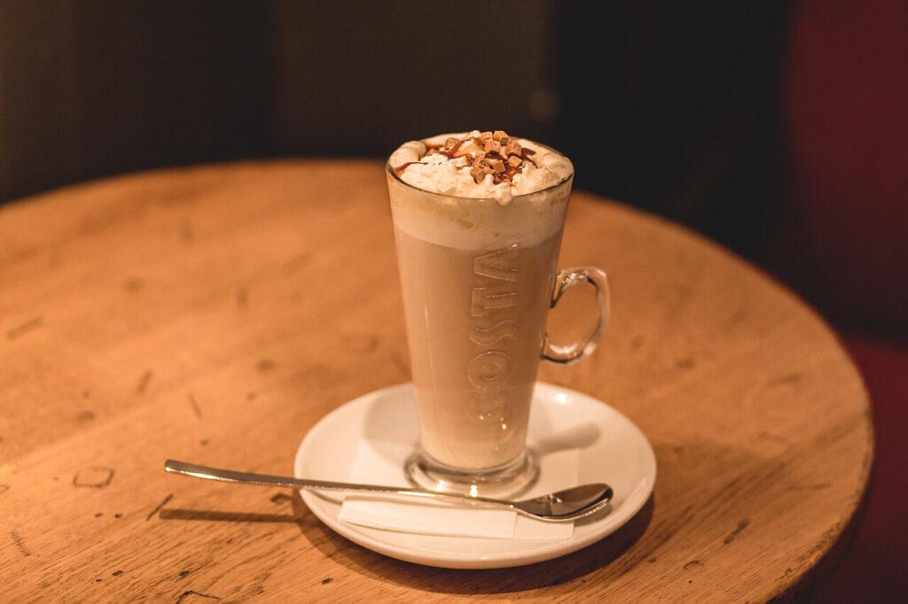 a coffee Frappé on a tabletop