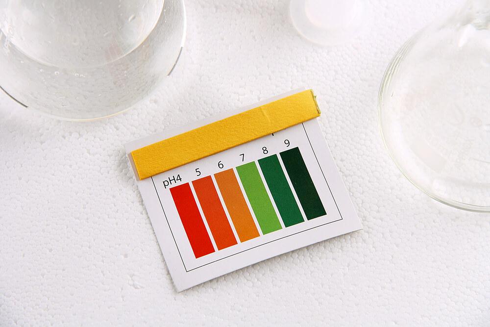 pH strip indicator
