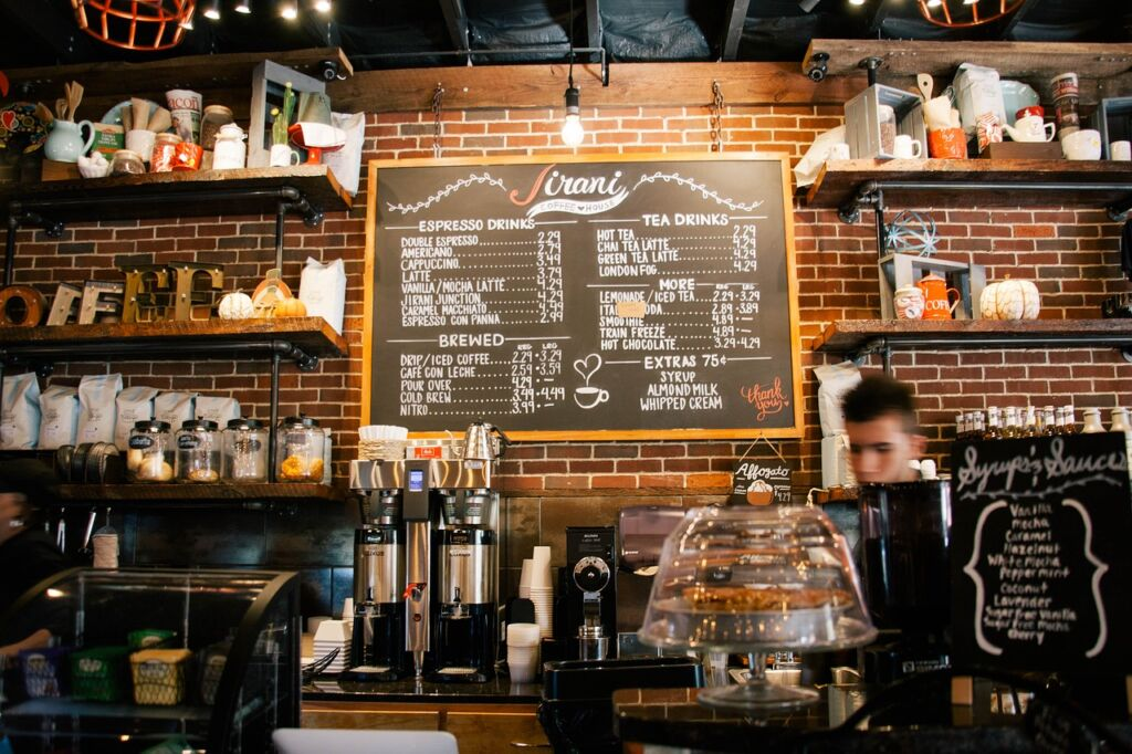 barista on a coffee shop