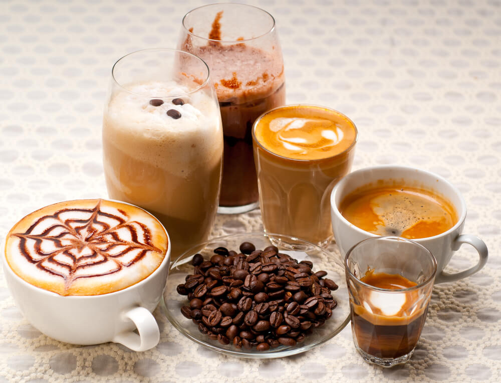 Selection of different coffee type - Breville Barista ExpressReview