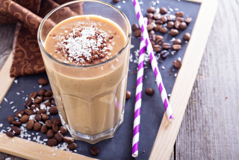 Coconut coffee with chocolate